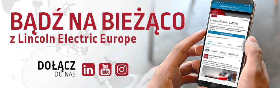 Stay connected with Lincoln Electric Europe