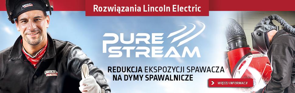 Rozwiązania Lincoln Electric: Pure Stream - Globalne rozwiązanie dla redukcji ekspozycji spawacza na szkodliwe działanie dymów spawalniczych