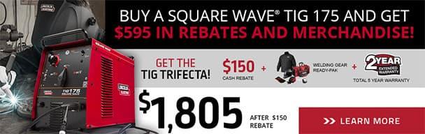 SquareWave TIG 175 Rebate