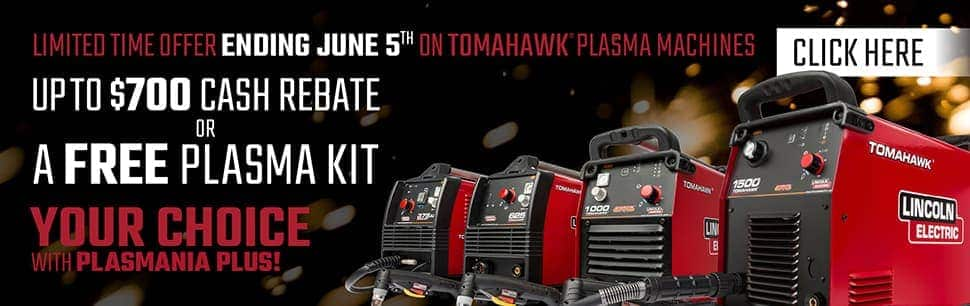 Up To $700 Rebate or Free Accessory Kit with Plasma Cutters