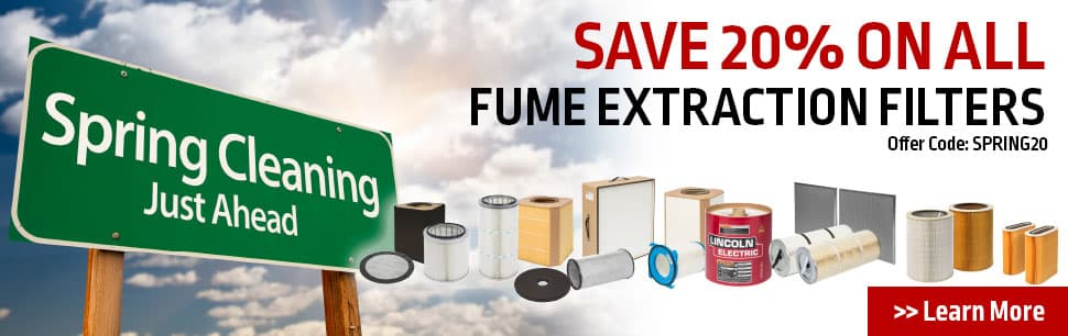 WELD FUME FILTER SPRING CLEANING SALE