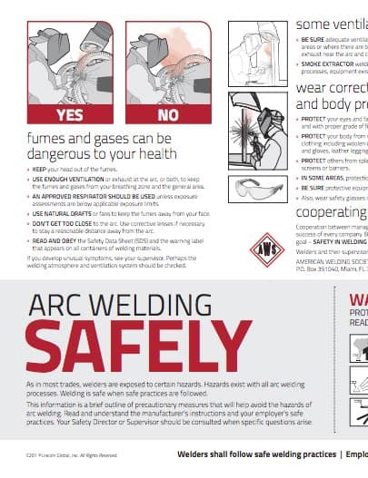health and safety in welding Welder health and safety hazards welder health and safety hazards health and safety hazards for welders include: 1 chemical hazards welding creates fumes which are a complex mixture of metallic oxides, silicates and fluorides.