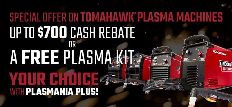 Save up to 700 on Tomahawk Plasma Cutters