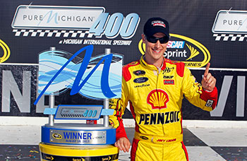 Joey Logano Wins in Michigan