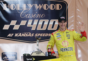 Joey Logano Wins at Kansas