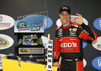 Brad Keselowski Wins New Hampshire