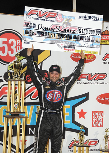 Victory Lane Donny Schatz Knoxville Nationals