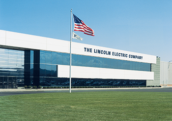 E Award Flag - Lincoln Electric Building