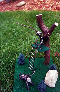 Deer Hunter Sculpture