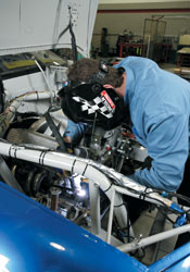 Some of the best welders in the world assemble Penske's racecars.