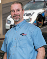 Jeffrey Baker, director of fabrication for Penske Racing South