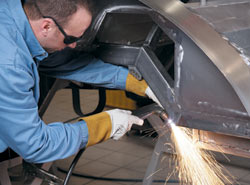 Weld failure isn't an option for cars that travel at more than 200 miles per hour.