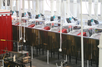 Welding Booths with Power Sources and Wire Feeders