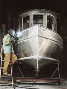Aluminum Boat Construction