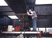 All work performed by Helmark and Falcon is custom. Steel is purchased in 40 or 60-foot lengths from the mill, then fabricated.