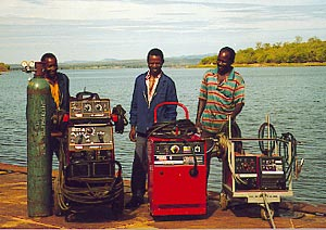 Graham Neil and friends with their new Lincoln Welding Equipment