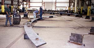 Weld Steel Curved Arc
