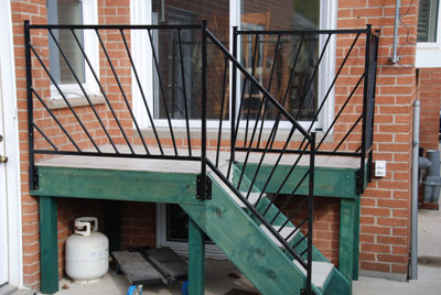 Porch Handrails