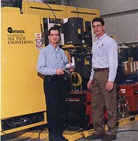 Kirk Briggs, Manufacturing Engineer, and John Doneth, a Welding Engineer, Ridgeview Industries