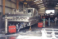 Silver Ships takes the aluminum boat manufacturing process from plate and extrusions to a finished boat product