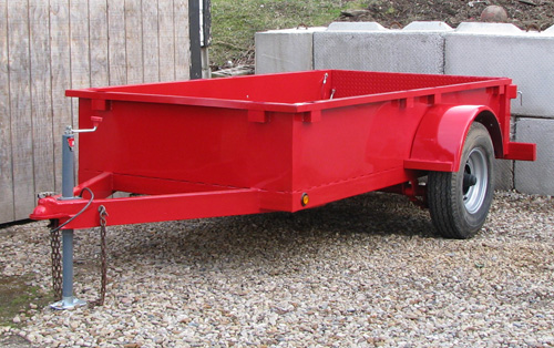 Building a utility trailer