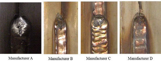Weld Crater Shrinkage Cavities