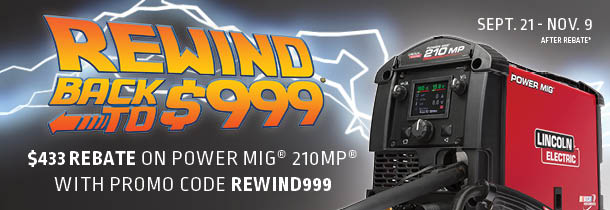 Lincoln Is Having A Discount On The Power Mig 210mp For 999 And I M Wondering If They Regularly Go On Sale Welding