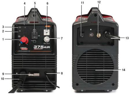 Lincoln Tomahawk 375 Air Handheld Plasma Cutter K2806-1