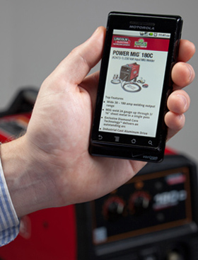 A mobile version of our online product page for your welder will load automatically.
