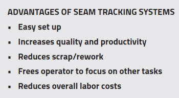 Advantages of Seam Tracking