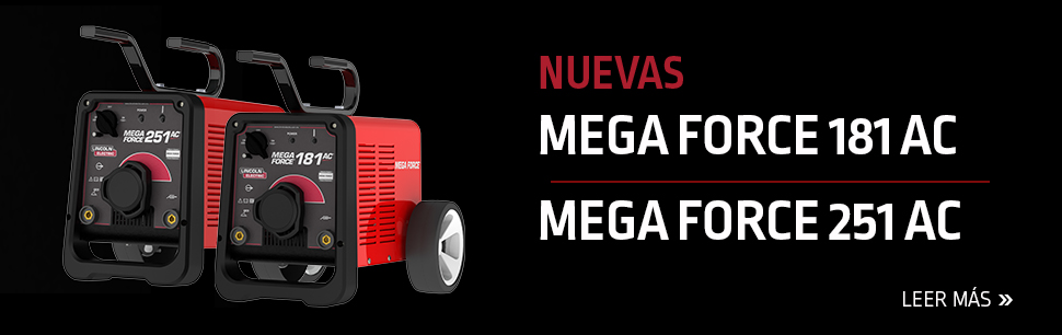 Mega Force está diseñada con la tecnología inversora para soldadura con electrodo revestido, en aplicaciones ligeras o medianas