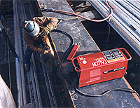 fitters use the Lincoln Electric Multi-Weld units with LH 70 electrodes.