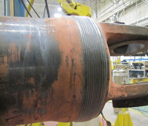 Welding Repair of Hydraulic Cylinder