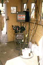 autoweld systems were enclosed to allow work during all weather conditions